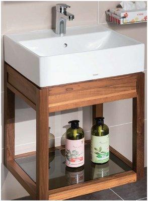 TO-710ST (柚木) TOTO專用臉盆浴櫃  合TOTO-L710CGUR   開放式浴櫃