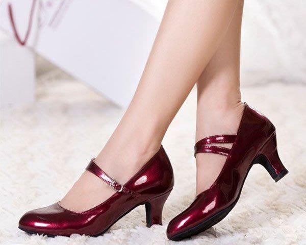 5Cgo【鴿樓】會員有優惠 19949565100 拉丁舞鞋女式中跟成人拉丁鞋廣場交誼國標舞鞋摩登舞鞋