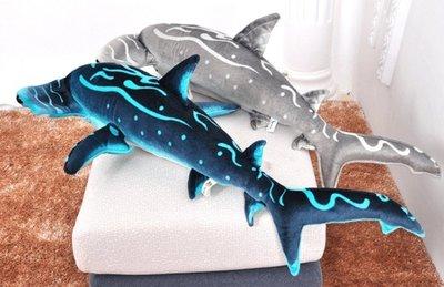【那間模型】大型1公尺 錘頭鯊 鯊魚 雙髻鯊 絨毛玩具 娃娃 抱枕 模型 海洋生物 魚類 公仔 寵物