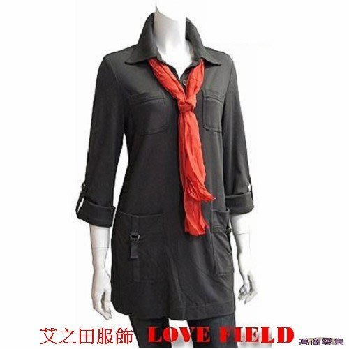 [萬商雲集] 全新艾之田服飾 時尚帥氣典雅百搭長板上衣 七分袖 長袖襯衫  22022