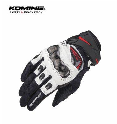 KOMINE GK-224新款春夏秋季摩托車騎士手套 防滑硬殼機車騎行手套 真皮透氣可觸屏 重機裝備 騎士必備