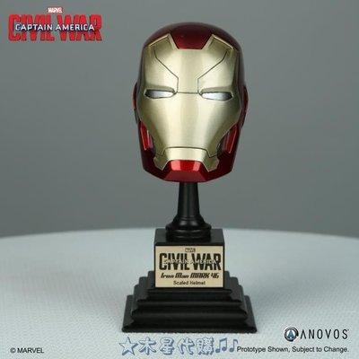 【木星代購】《美國代購 Marvel 美國隊長3英雄內戰 鋼鐵人 馬克46 1/3 頭盔 擺飾 預購》景品公仔模型收藏