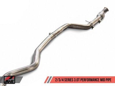=1號倉庫= AWE Tuning 中段 排氣管 BMW F22 M235i COUPE 3.0L TURBO