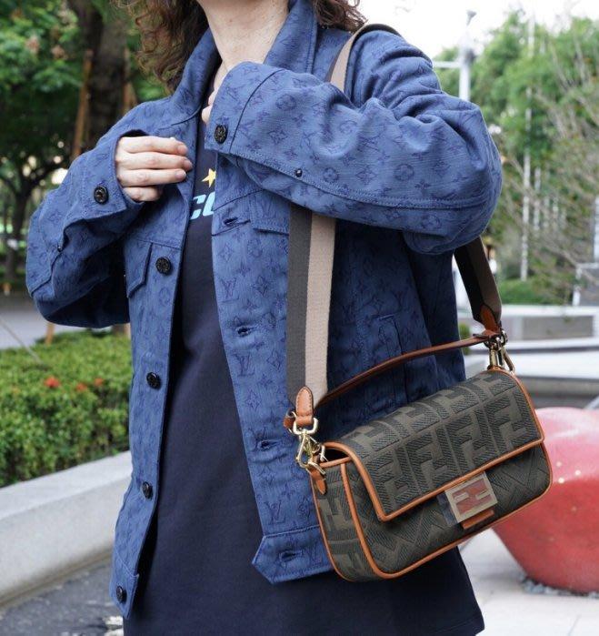 Fendi 8BR600 Baguette shoulder bag FF 法棍肩背包