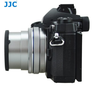 JJC奧林巴斯14-42mm EZ電動餅乾鏡頭自動鏡頭蓋E-M10 E-P5 E-PL9 銀色自動開啟關閉