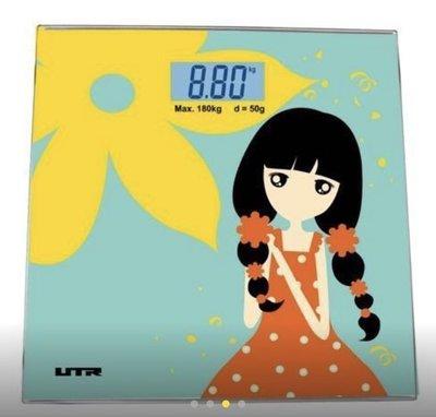 全新超薄180kg-0,05kg 強化玻璃 浴室電子磅Digital Bathroom Scale浴室磅 電子秤配藍背光