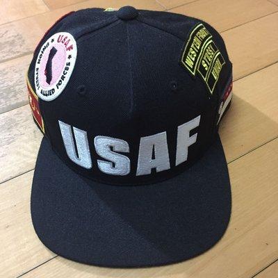 稀有STUSSY x UNION USAF patches snapback電繡貼布後扣棒球帽