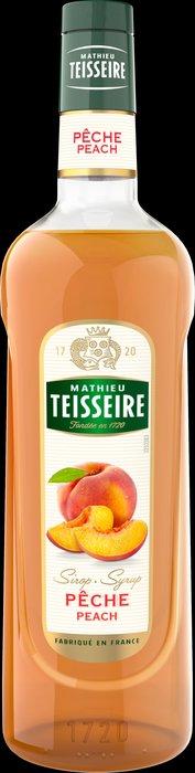 Teisseire 糖漿果露-水蜜桃風味 Peach Syrup 法國頂級天然糖漿 1000ml-【良鎂咖啡精品館】