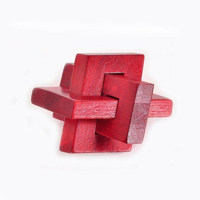 木制益智玩具成人古典益智玩具孔明鎖魯班鎖斜三通益智動手動腦玩具幫助寶寶開發智力