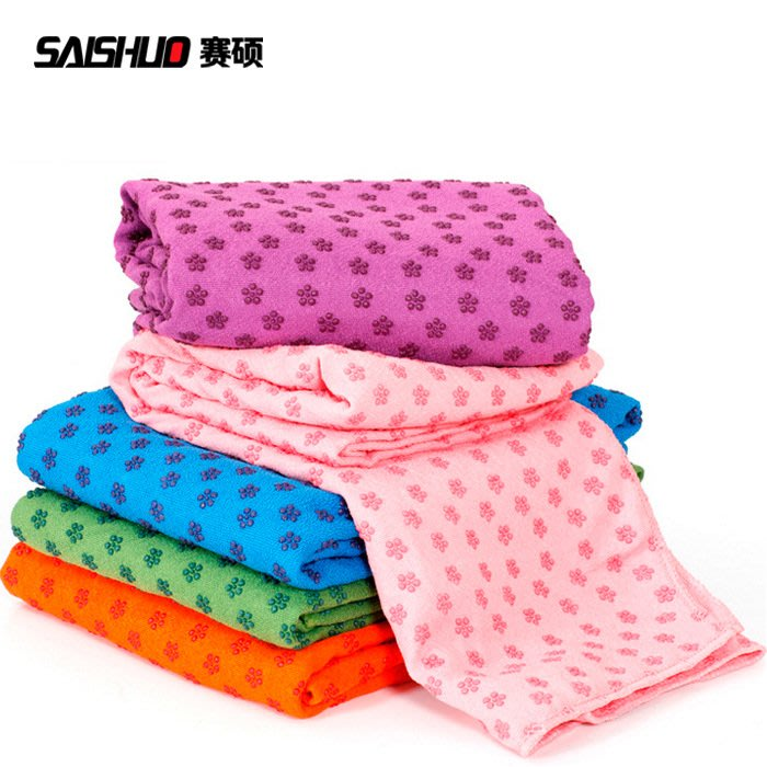 柔軟瑜伽鋪巾粉紫藍綠色瑜伽鋪巾樹脂瑜伽巾瑜伽墊送網包【每個規格價格不同】