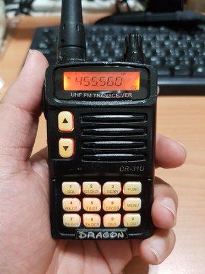 Dragon DR-31U 雙頻對講機(附電池+天線+背夾)功能正常 $1000 扒13