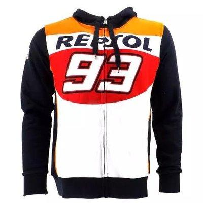 驢友之家高品質 MOTOGP 93號馬奎斯賽車服車迷衫摩托車騎行衛衣外套加絨保暖帽衫