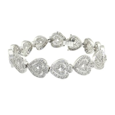 【JHT金宏總珠寶/GIA鑽石專賣】2.50ct天然造型鑽石手鍊/材質:18K(JB41-D21)