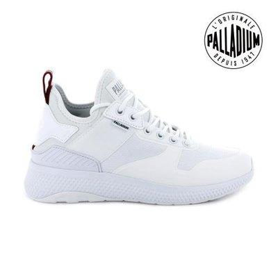 =E.P=PALLADIUM AX_EON AR AMPHIBIAN 網布 休閒鞋 全白 軍靴 女版 95989-142