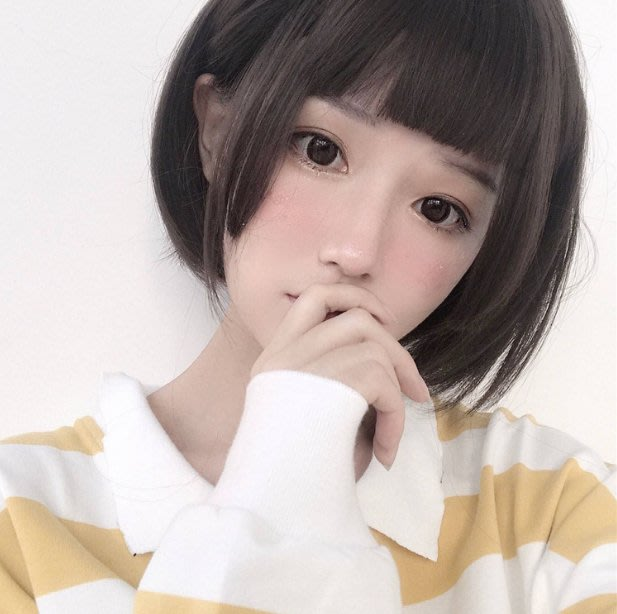 Q806-姬發式假髮女短直發自然逼真圓臉日常Lolita公主切三刀齊cos假毛#cos發套#