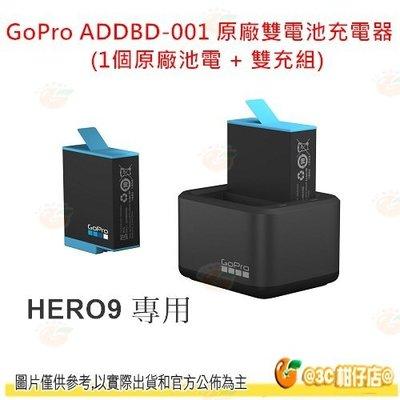 GoPro ADDBD-001 雙電池充電器 1個原廠電池 + 座充 原電雙充組 公司貨 HERO9 HERO 9 適用
