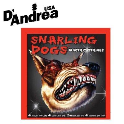【小叮噹的店】全新 美國 D'Andrea Snarling Dogs 電吉他弦 公司貨 附發票
