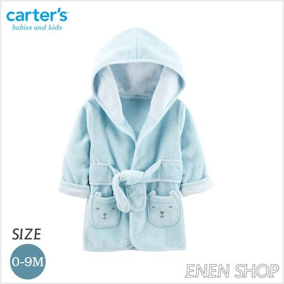 『Enen Shop』@Carters 可愛藍熊款連帽浴袍/浴巾/包巾/長袍 #126H780 0-9M 新生兒/彌月禮
