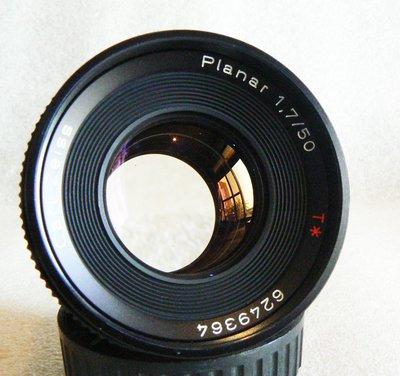 【悠悠山河】銳利無敵 Contax Carl Zeiss T* Planar 50mm F1.7 無霉鏡片超透亮 AEJ