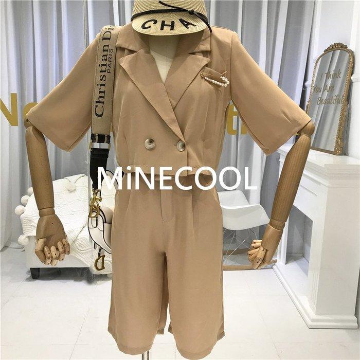 MiNE SHOP韓國 M9705-5實拍 時尚五分西裝褲套裝 兩色 SM