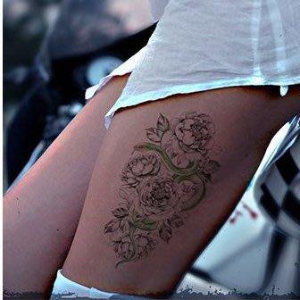 【萌古屋】花與蛇 - 男女防水紋身貼紙刺青貼紙AQ-008 K19