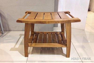 【美日晟柚木家具】柚木茶几.小茶几.邊几.穿鞋椅.浴室儲物椅.造型椅.浴室台