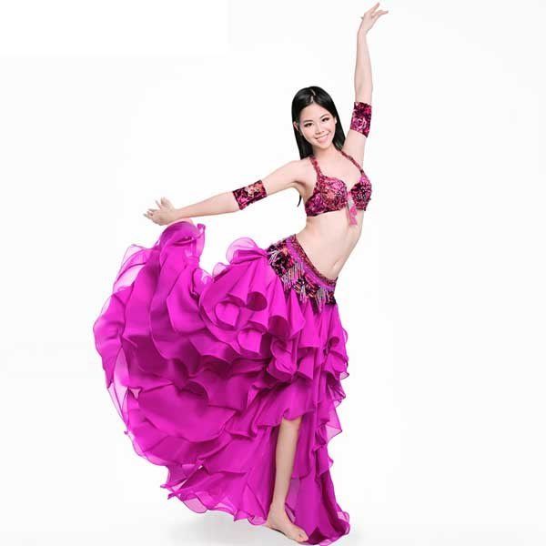 5Cgo【鴿樓】會員有優惠 45672079407 埃及高檔肚皮舞 演出服套裝 練習表演服裝大擺裙 肚皮舞衣