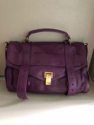 Proenza Schouler PS1 中款 紫色 手提包 肩背包 斜背包