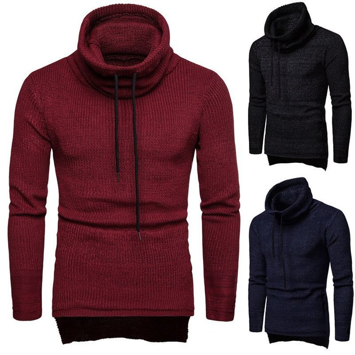 『潮范』 WS11 新款歐美男士套頭加厚高領毛衣 聖誕衣 圖案針織衫 圖案毛衣NRG2711