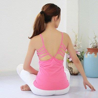 瑜珈 服 無袖背心-速乾彈力性感美背女運動服5色73rh9[獨家進口][米蘭精品]