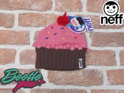BEETLE PLUS 西門町實體店面 美國 NEFF CUPCAKE STRAWBERRY BEANIE 蛋糕 毛帽  蛋糕帽 馬卡龍 草莓