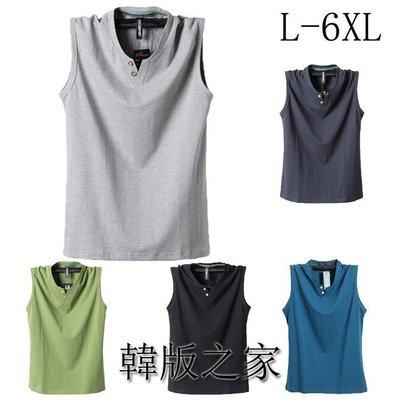 韓版之家大碼男裝無袖T恤 特大號坎肩背心運動休閑衫100KG以上可穿 Y10