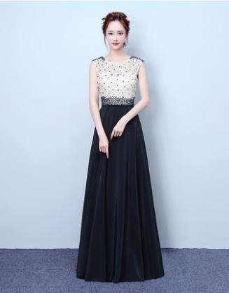 紫滕戀推出款時尚長款禮服女主持人宴會年會晚裝韓版修身長裙 可訂做