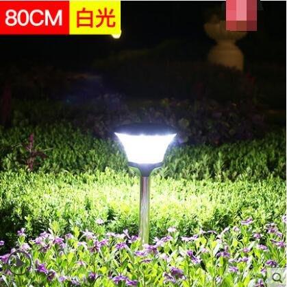 造景燈太陽能燈草坪燈防水家用感應柱頭壁燈戶外路燈 地插80cm