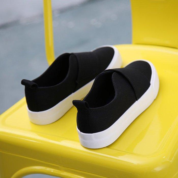 ~Linda~春季新款百搭一腳蹬女鞋懶人學生韓版帆布鞋女白色板鞋小白鞋