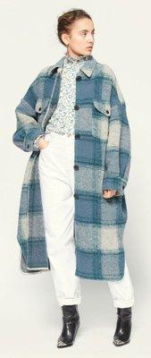 ISABEL MARANT, ÉTOILE Gabrion checked wool-blend coat