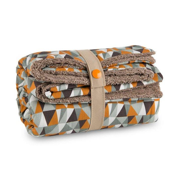〖洋碼頭〗法國原產Carotte-Cie嬰兒毯新生兒抱毯爬行毯橙塊印花母嬰用品 L3124