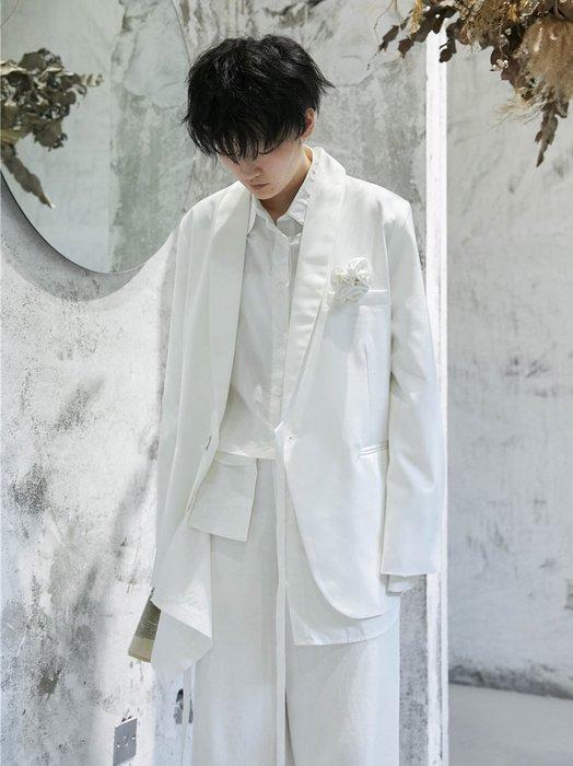 【鈷藍家】山本風SU秋小眾M6日本暗黑花嫁設計感花朵胸針西裝外套男友風西服
