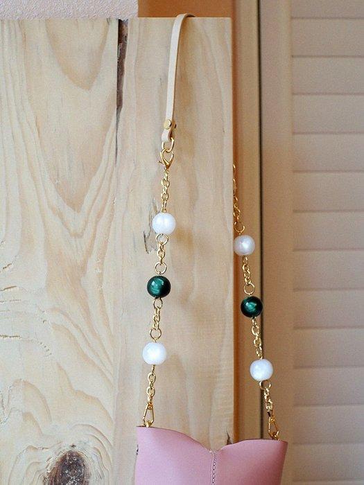 淘淘樂-定制趣味二合一復古牛皮包帶配件ins時髦小眾原創仙女包肩帶鏈條
