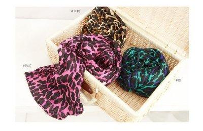 Debbies World 台灣製豹紋圍巾三色,每色250元含運