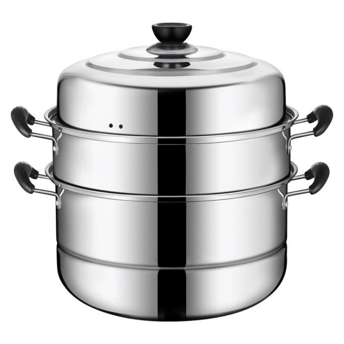 不銹鋼蒸鍋三層多3層蒸饅頭的蒸籠加厚1二2層家用煤氣灶用電磁爐