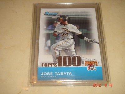 美國職棒 Pirates Jose Tabata  2010 Bowman Topps 100 Prospects #TP54  球員卡