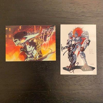 1994 & 1996 大畑 晃一 Koichi Ohata 日本動漫設計師機甲 親筆簽名 收藏卡 卡片 共2張