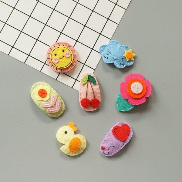 C178兒童髮夾 手工縫製布料高檔兒童BB夹 寶寶跳板夾 女童髮飾☆草莓花園☆