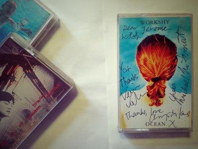 Workshy Ocean 波麗佳音台版代理卡帶 記者會後全團簽名 1992
