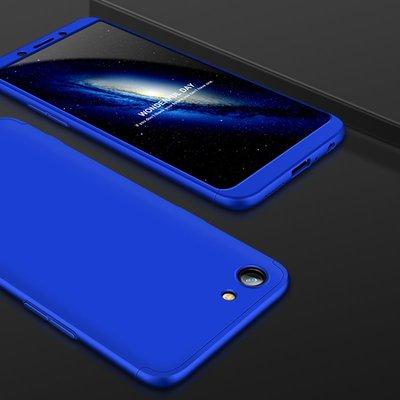 【GooMea】4免運 贈玻貼OPPO A83 A79 360度 3段 全包殼 手機殼 藍色保護殼手機套保護套