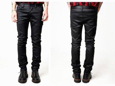 【HYDRA】韓國新興品牌 ROCKED GARAGE GLOSS COATED JEANS 上膠 上蠟 緊身 合身 牛仔褲 S M L 全新正品