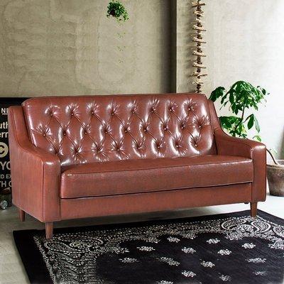 【179購物中心】新上海-百年經典復古三人沙發172cm-三人座皮沙發-破盤$6800-黑色/咖啡-限量-