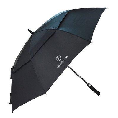 BENZ賓士專用自動雨傘 雙層長柄男士商務黑色雨傘超大 超強防風雨兩用高爾夫傘 車用自動傘 太陽傘 遮雨傘 遮陽傘