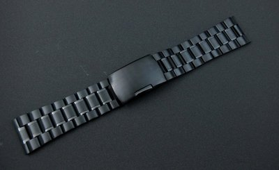 22mm平頭實心不鏽鋼錶帶黑色PVD超值亞米家sea master海馬風格speed master替代相同規格各式表帶